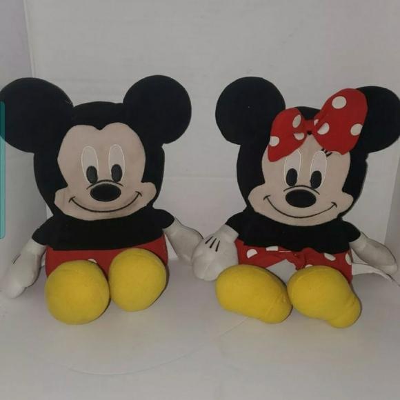 Disney Mickey Mouse Square Plush, Minnie Mouse Squ